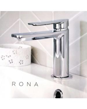 Rona Mono Basin Mixer Tap Inc Clicker Basin Waste Slotted Bathroom Tap