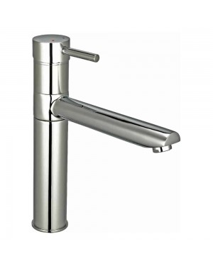 Reginox - Hudson Brushed Nickel Mono Kitchen Sink Mixer Tap Single Lever