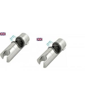 Replacement Bathroom Shower Rail Slider Bracket Holder Universal X 2 UK SELLER