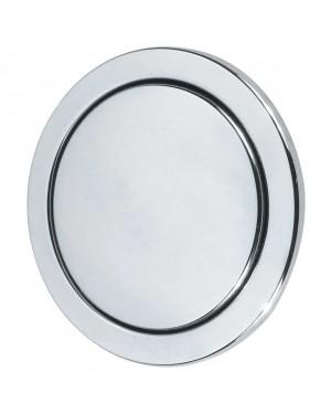 Dudley CP Round Single Flush Button