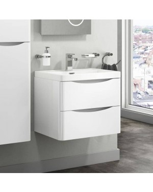 Bali 600mm Wall Mounted Drawer Vanity Unit & Basin