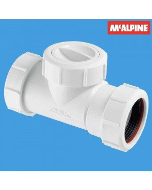 McAlpine T28M-NRV Plumbing PVC Waste Non-Return Valve Pipe 40mm Easy Clean