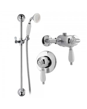 Concealed Traditional Bathroom Slide Rail Kit Manual Single Lever Valve Ultra