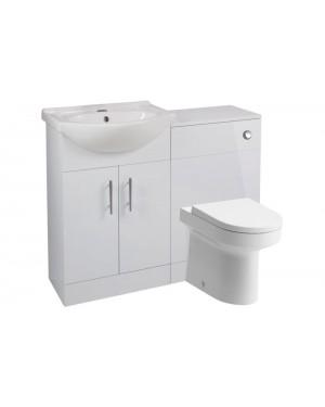 Complete Bathroom Cloakroom Furniture Suite Vanity Unit Basin Sink (Tap NOT Included)