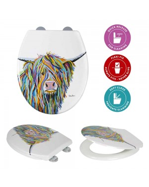 Designer Angus McCoo Toilet Seat Soft Close and Quick Release by Steven Brown