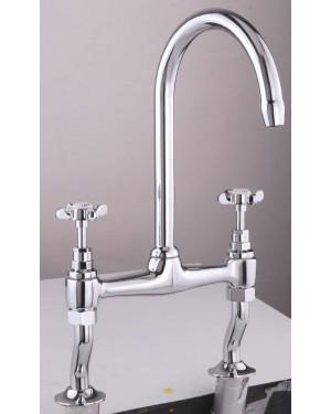 Luxury Versailles Traditional Bridge Kitchen Sink Mixer Tap - Free P&P
