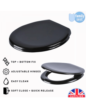 York Toilet Seat - Black