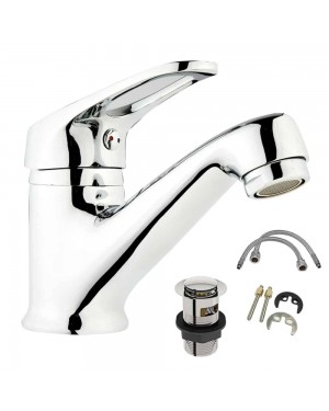 Low Pressure DOM Bathroom Basin Tap & Waste