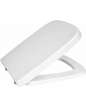 Toilet Seat Luxury Modern Square Soft Close Top & Bottom Fixings