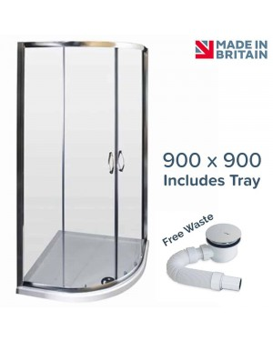 Ella 900 x 900 Quadrant Shower Enclosure Including Tray