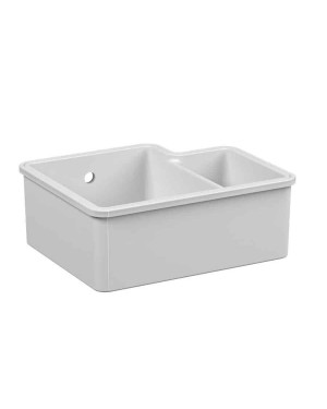 Reginox Tuscany 1.5 Bowl White Ceramic Undermount Kitchen Sink