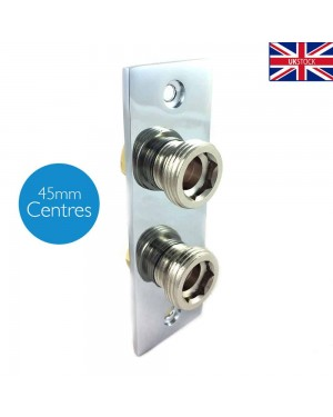 Bidet Thermostatic Shower Fixing Wall Plate Bathroom Toilet Valve Back Chrome