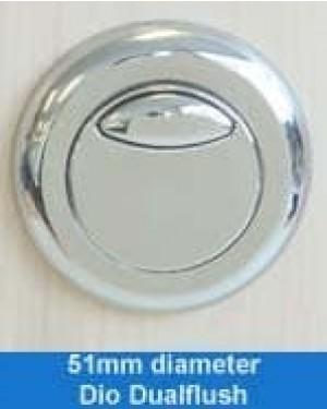 Thomas Dudley 322408 Chrome Dio Dual Flush Pushbutton In Chrome,