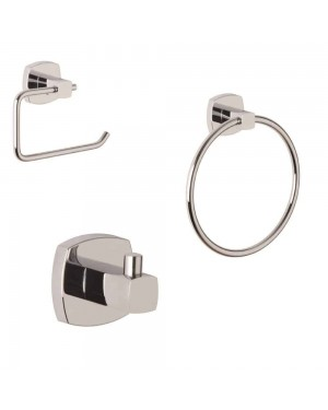 Modern Croydex Medway Flexi Fit Set Toilet Roll Holder/Towel Ring & Robe Hook