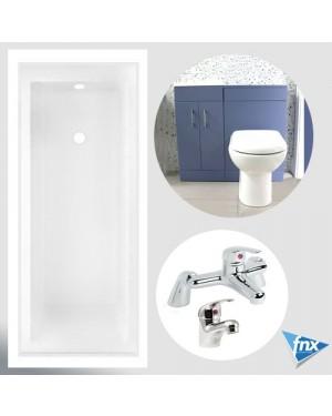 Storm Blue Bathroom Vanity Suite Inc Taps 1700 Bath Vanity Unit Btw Unit & Toilet