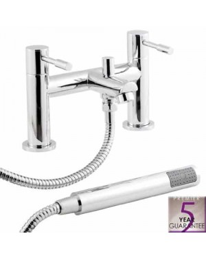 Chrome Bathroom Bath Shower Mixer Tap Lever Action Modern Peg Style Luxury