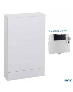 Slimline 500mm Gloss White WC Back To Wall Unit 6L Concealed Cistern