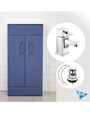 Lomond BLUE 400mm Bathroom Vanity Unit Incl Basin & HERO Mixer Tap