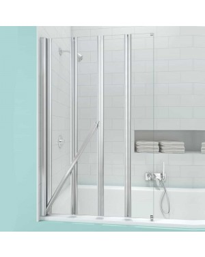 Merlyn SecureSeal 4 Fold Folding Bath Screen 6mm 800 x 1500mm Non Leak