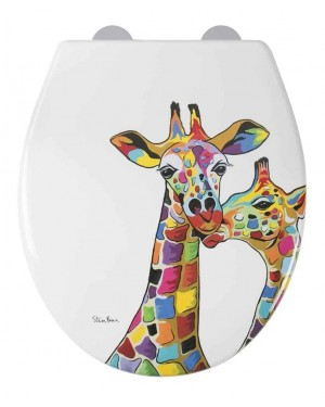Designer Francie & Josie Toilet Seat Soft Close Quick Release by Steven Brown