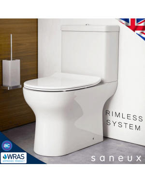 Rimless AIR Close Coupled Toilet & Soft Close Seat
