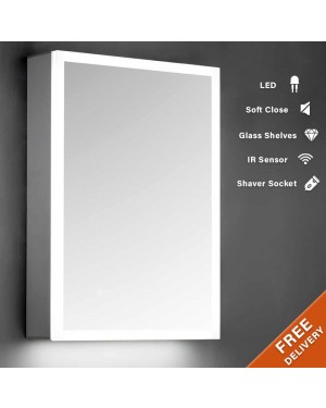 500x700mm Surround LED Mirror Cabinet