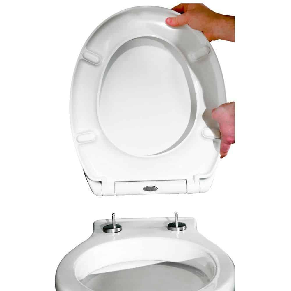Toilet Seat Soft Close Quick Release Top Fix Easy Clean