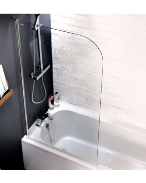 1400 x 800mm Curved Top Bath Screen 6mm Glass