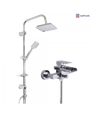 Overhead Shower Kit & Waterfall Bath Shower Mixer