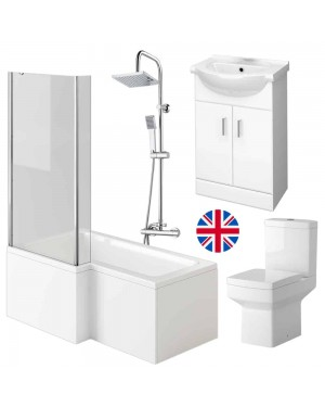 L Shape Bathroom Suite - Left Hand
