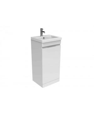 Saneux 400mm Bathroom Vanity Cloakroom Unit WHITE Compact
