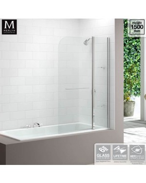 Merlyn Two Panel Curved Bath Screen Modern Bathroom (1150 x 1500mm)