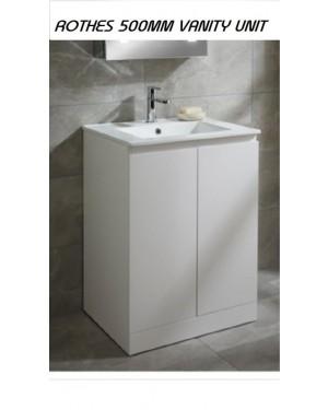 Bathroom Vanity Unit 500mm Including Basin Mixer Tap & Clicker Waste