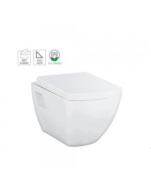 Creavit Short Projection Wall Hung Toilet Pan