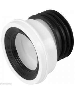 "Viva WC Toilet 20mm Offset Pan Connector Soil 4"" 100mm PP0003"
