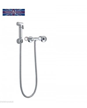 Chrome Hand Held Muslim Bidet Spray Douche Shattaf With Manual Shower Valve