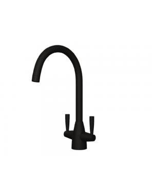 Rumba Modern Kitchen Sink Tap Black Incl Flexi Tap Tails