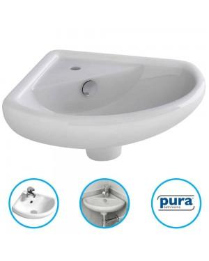 Bathroom Cloakroom Ceramic Compact Corner Small Wash Basin Sink