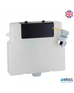 SLIMLINE In Wall Concealed Dual Flush Toilet Cistern 6L Front & Top Access Side Entry