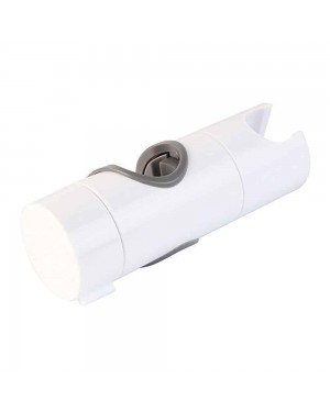 Replacement WHITE 19MM - 25mm Shower Bracket Slider Riser Rail TWIST