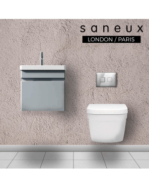 Saneux AIR 400mm Wall Hung Vanity Unit Pewter Grey