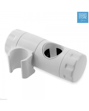 MX WHITE SHOWER BRACKET SLIDER RISER RAIL 25MM BY MX Triton Mira Galaxy Replacement