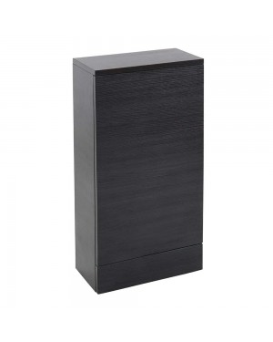 Black Ash WC Back To Wall Unit 400 x 220 Compact Modern Bathroom Furniture