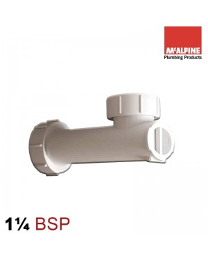 McAlpine Basin Space Saver Trap with Self-Closing Waste Valve