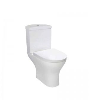 Luxury Corner Toilet Pan & Cistern (PALMA) White Ceramic