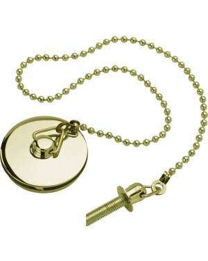 Basin Sink Plug Incl Chain & Stay GOLD