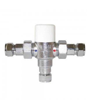 Tower 15mm Thermostatic Inline Thermal Mixing Shower Blending Valve