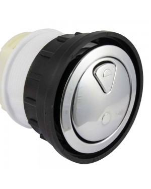 Dudley CP Round Dual Flush Button