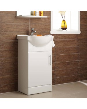 Bathroom Vanity Basin Sink Unit 450mm Wide - 1 Tap Hole