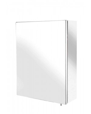 Croydex Avon Stainless Steel Bathroom Single Door Small Cabinet WC856005